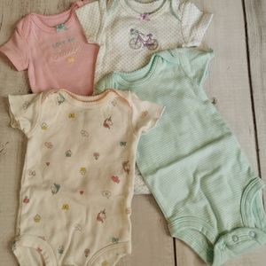Lot of 4 NB Size Body Suits by Carters